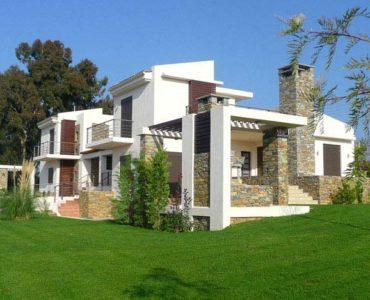 12 1 370x300 - Amaliada, Peloponesse'de Deniz Manzaralı Bitişik Villa A