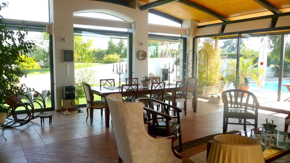 1F kioski 1 - Amaliada, Peloponesse'de 500 m2 villa + üzüm bağı