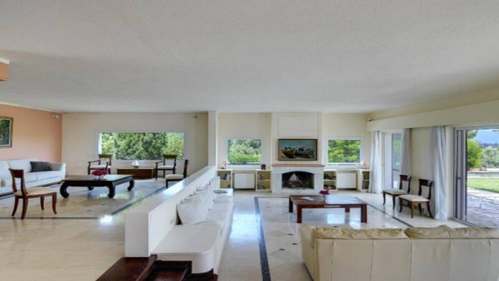 5 4 - Korfu Gouvia'da deniz manzaralı nefis villa