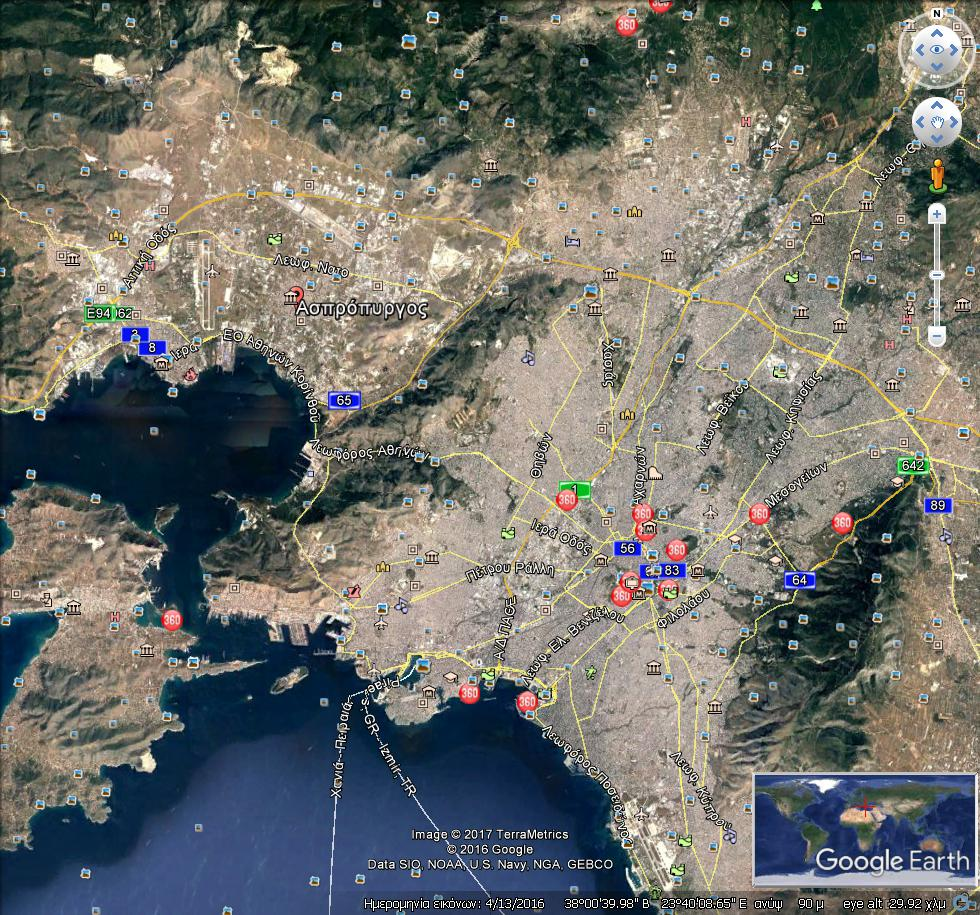 GoogleEarth Image 3 1 - Investment Opportunity At Aspropyrgos, Athens Having 8% Rental Yield