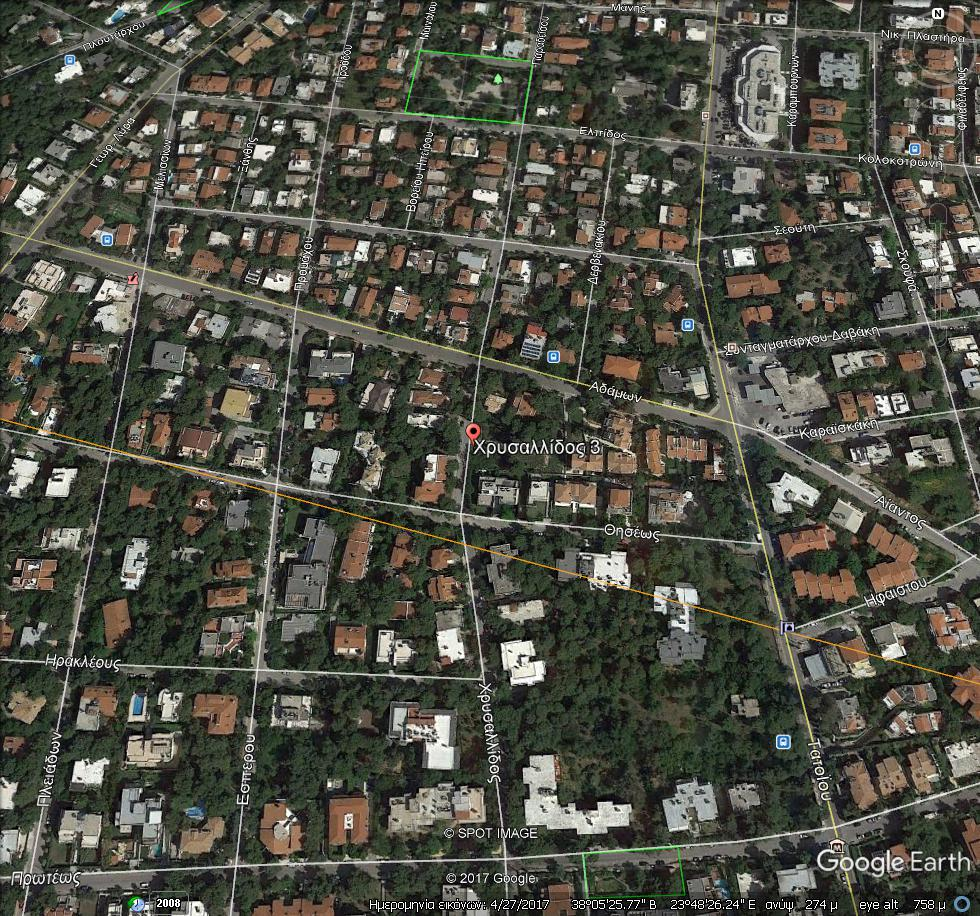 GoogleEarth Image 6 - Kifissia'da Harika Lokasyon Satılık İmarlı Arsa