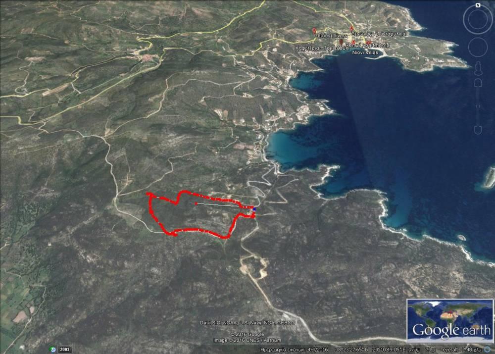 GoogleEarth Image - Evia'da Deniz Manzaralı Arsa (Eğriboz Adası)