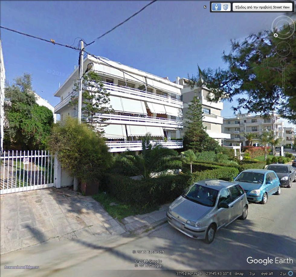 GoogleEarth Image 1 3 - Glyfada'da Huzurlu Daire