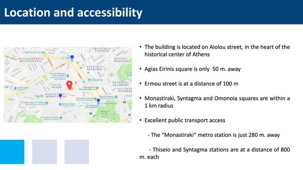 aiolou 3 - Atina Merkez'de 1433 m2 7 Katlı Satılık Bina