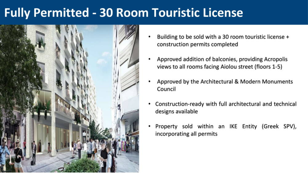 aiolou 5 - Atina Merkez'de 1433 m2 7 Katlı Satılık Bina
