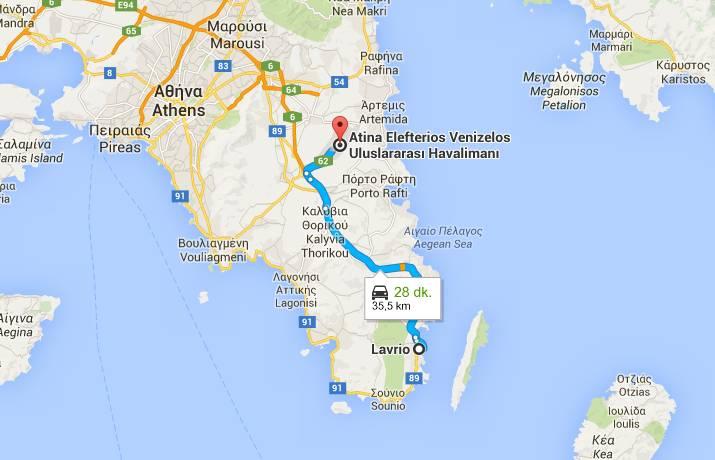 lvr10 harita - Lavrio Seaside Residences – Yatırım Fırsatı – 2 bina tamamen satılık