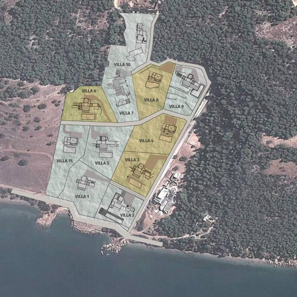 sfv yerleşim 1 - Seafront Villaları 8 Numara